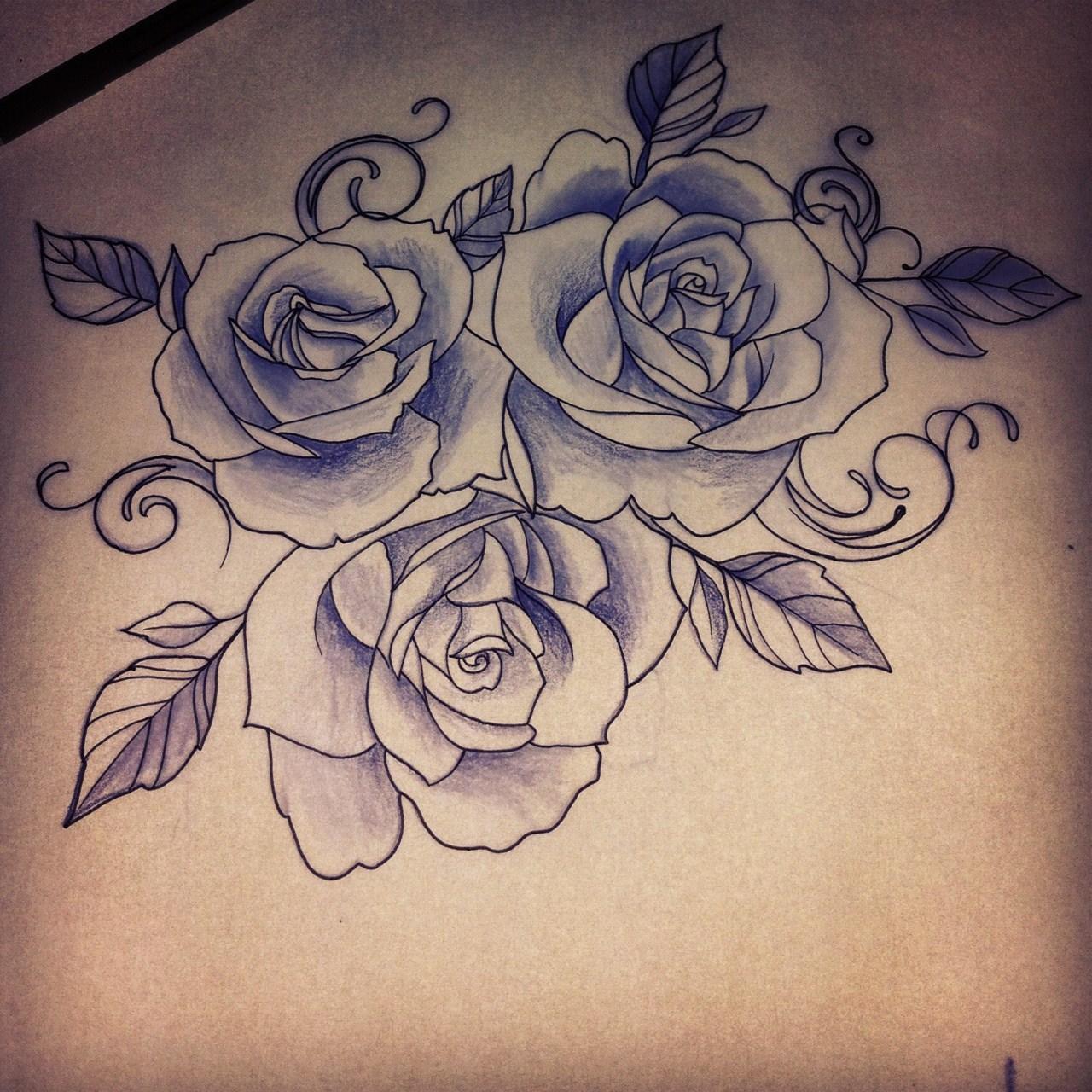 Drawn rose girly skull Sugar muertos dia  drawing