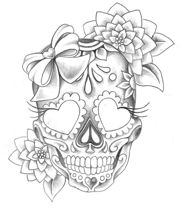 Drawn ssckull girly skull Ideas skull Tattoo on Best