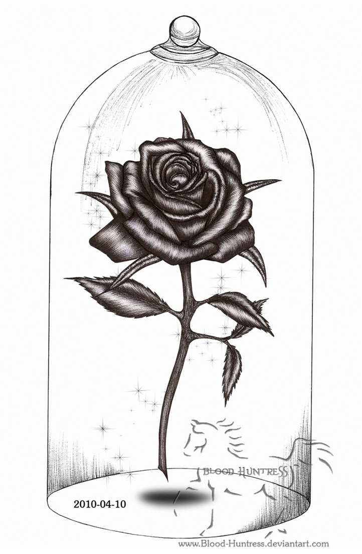 Drawn rose gothic DeviantArt Drawing With Glass Rose