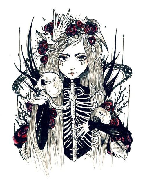 Drawn rose gothic ILLUSTRATION Pinterest GOTH goth ✝☯★☮