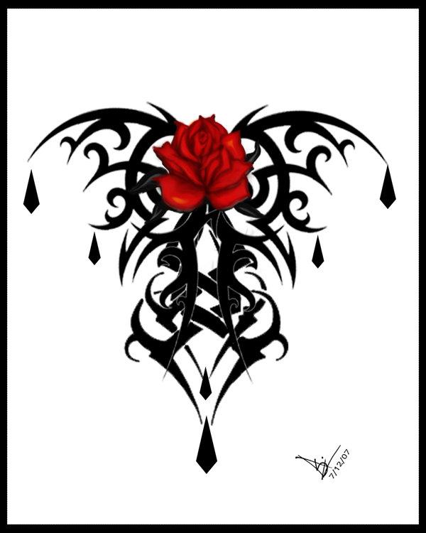 Drawn rose gothic 816 rosetattoo Explore misscarissarose Print