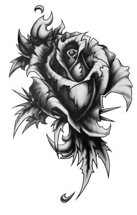 Drawn rose gothic Tattoo Gothic on 166 tattoos