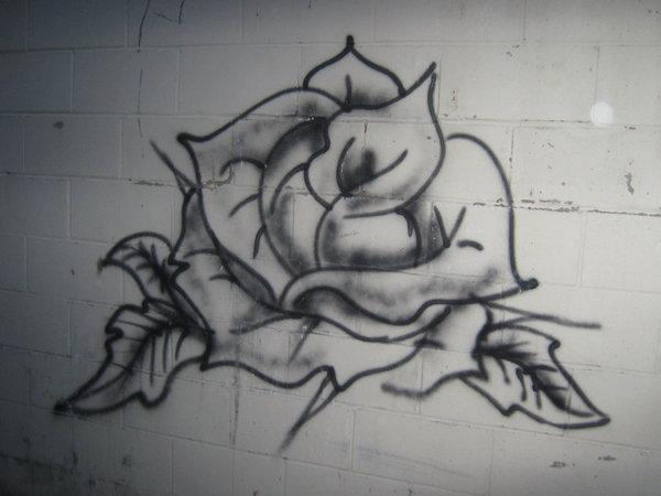 Drawn rose bush graffito Sasori on DeviantArt by Marcynuk