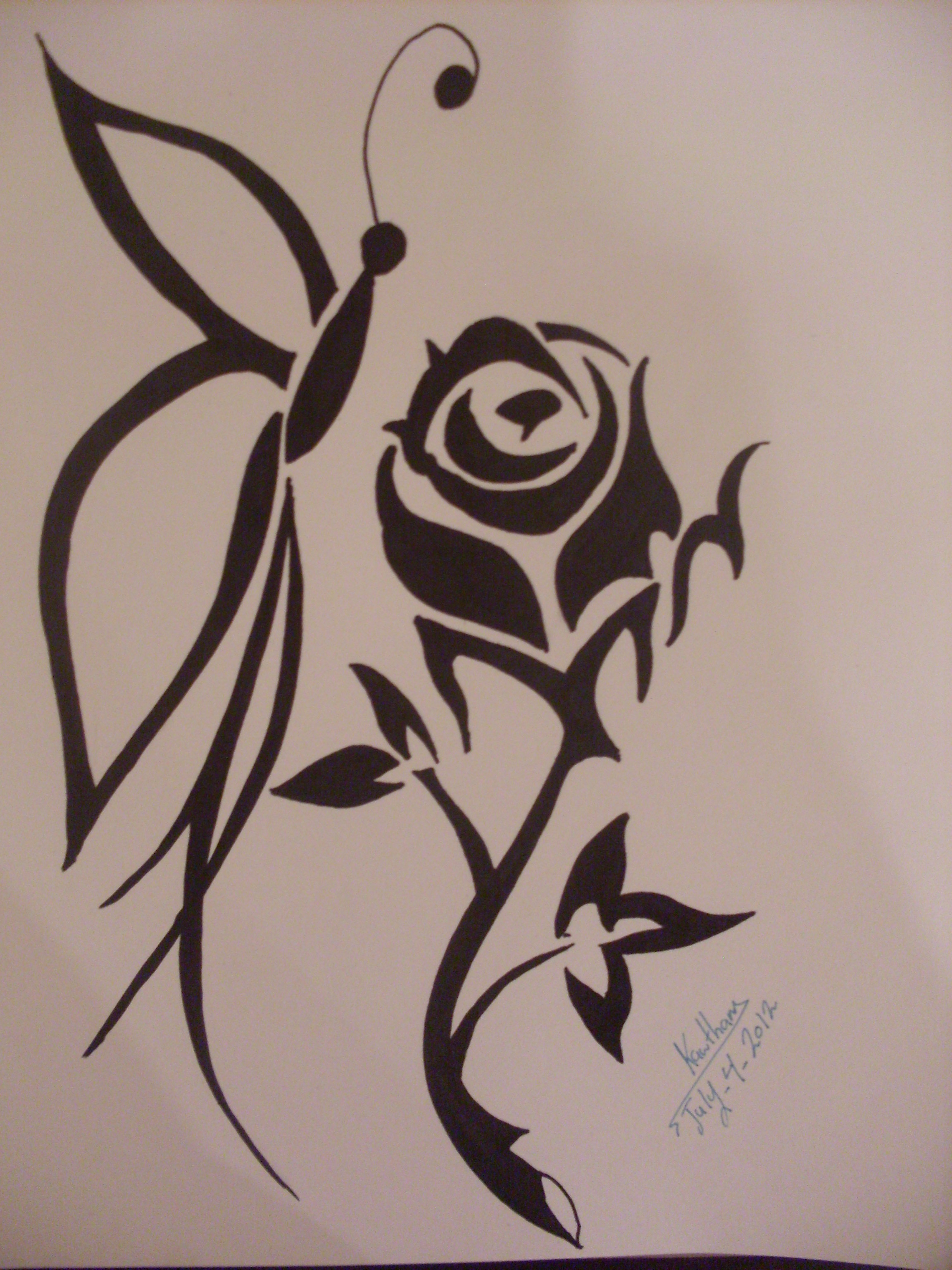 Drawn rose grafitti Drawing on Clip And 2015