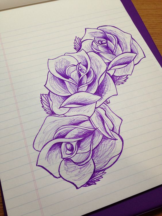 Drawn rose hard Find on drawings Tattoos!! Simple