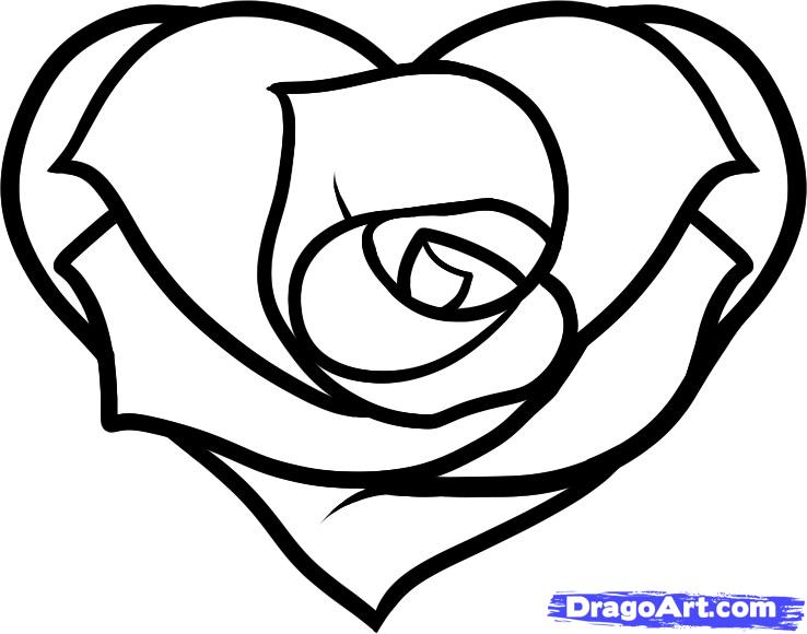 Drawn rose heart on fire Heart by Hearts Clip Art