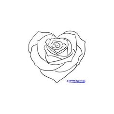 Drawn rose interesting Heart House Simple to Drawing