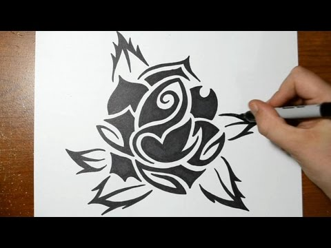 Drawn rose interesting Art Roses Tutorials How to