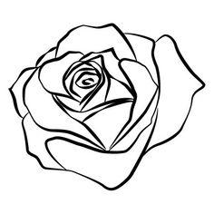 Drawn rose line art Deviantart on on  Pinterest