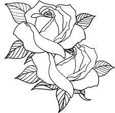 Drawn rose line art Swallow tattoos deviantart groundhog22 Image