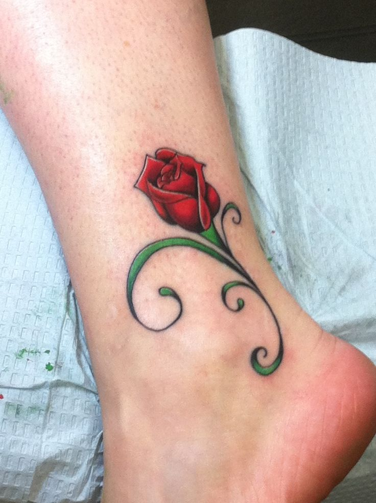 Drawn rose little rose Wrist on The month Rose