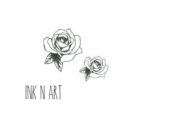 Drawn rose little rose Tattoos Pinterest 2pcs by rose