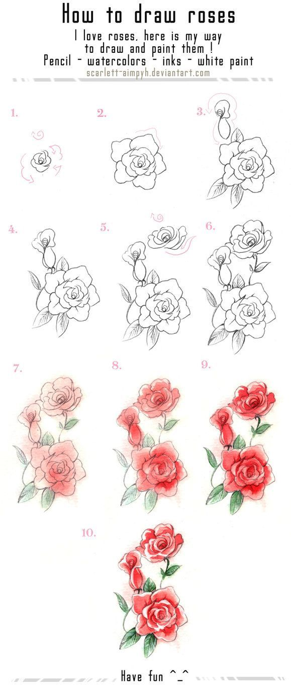 Drawn rose love Ideas roses disegno?✏ on more