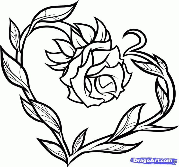 Drawn rose love heart Best Cool With Sharpies Draw