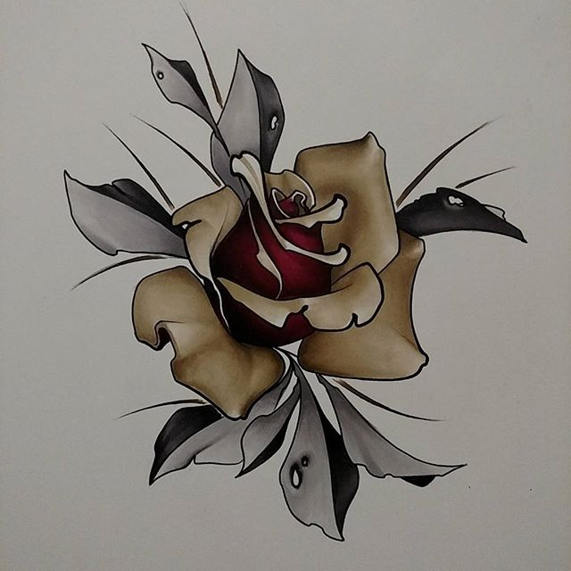 Drawn rose marker On from @marky2dix Instagram rose
