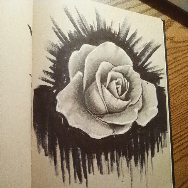 Drawn rose marker Drawing #fun flower drawing #rose