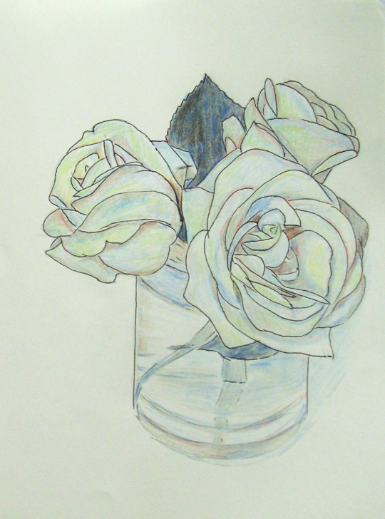 Drawn rose pastel drawing Art G How Roses Chalk