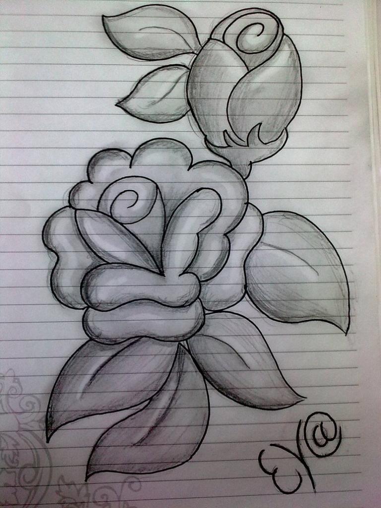 Drawn rose pencil for kid Pencil  Art Sketch Drawing
