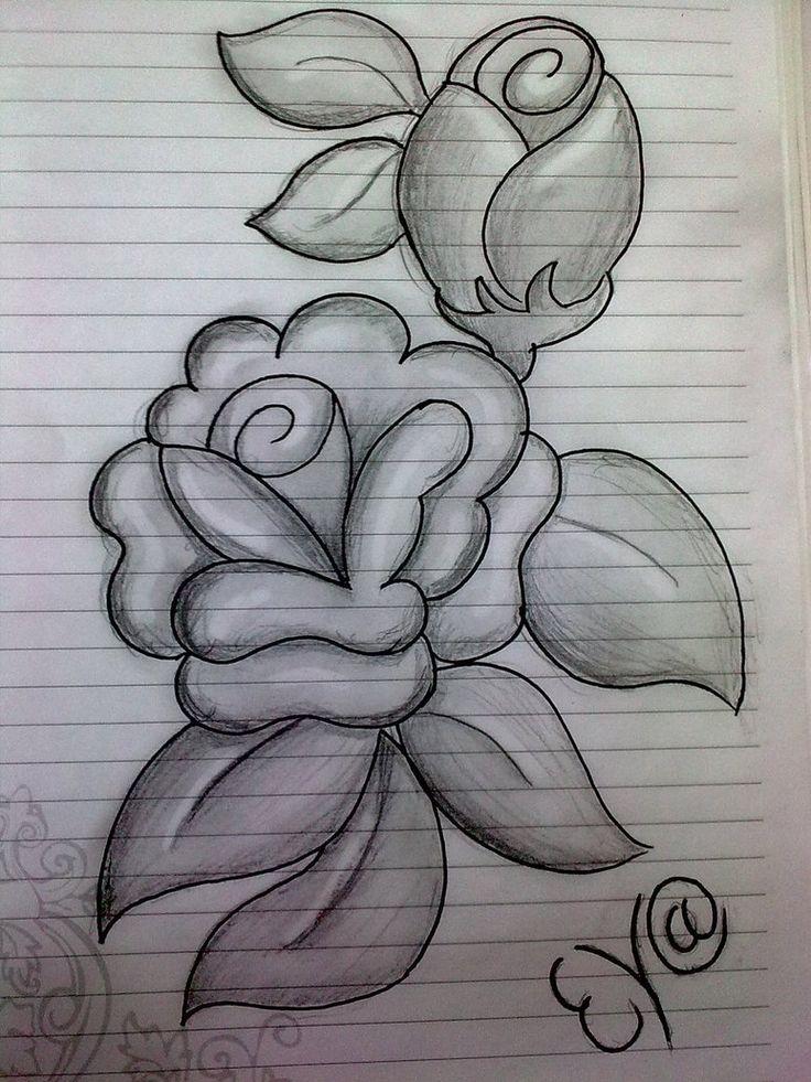 Drawn rose pencil sketch Pencil 54 easy Google Pinterest