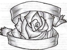 Drawn rose ribbon Rose Heart ~FeeOhNah  Around