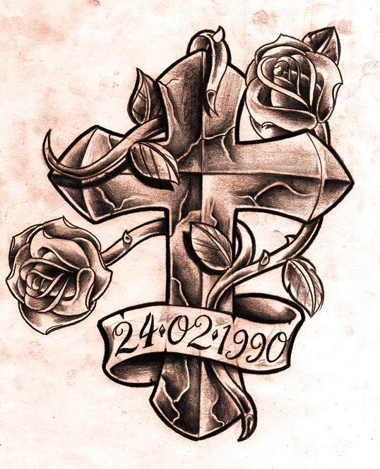 Drawn rose ribbon Someone someone bicep I tattoo