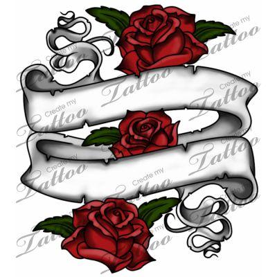 Drawn rose rose banner About best Pinterest Marketplace CreateMyTattoo