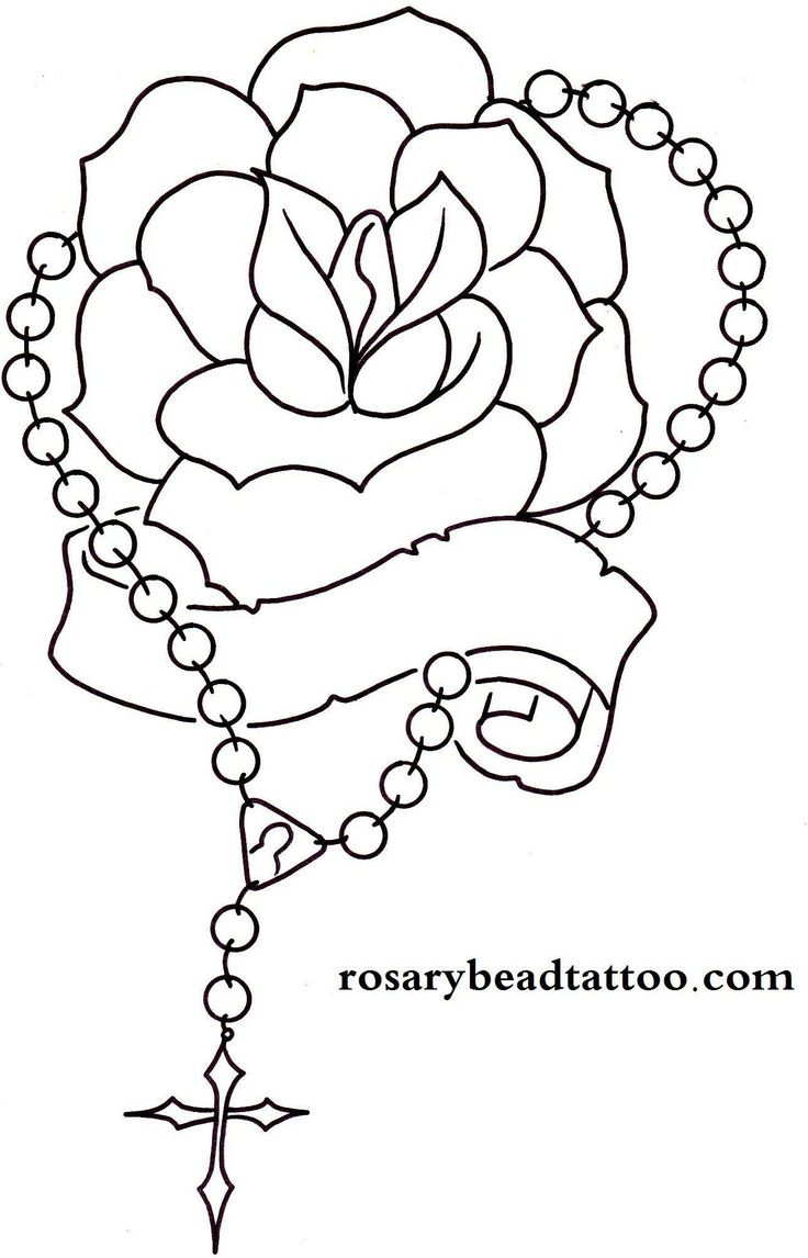 Drawn rose rose banner Tattoo tattoo 25+ banner Rosary