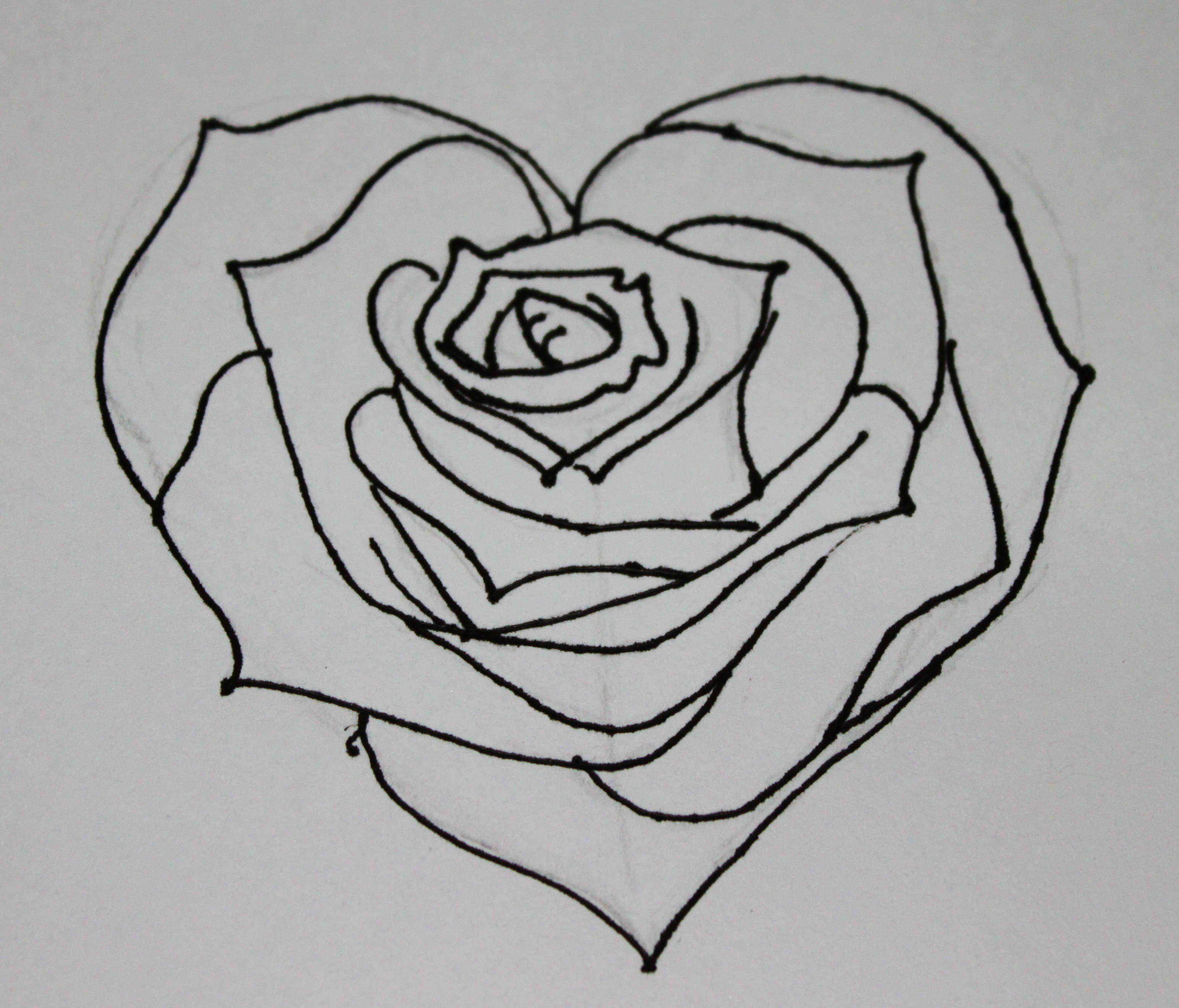 Drawn rose rose banner With Of Download Art Heart