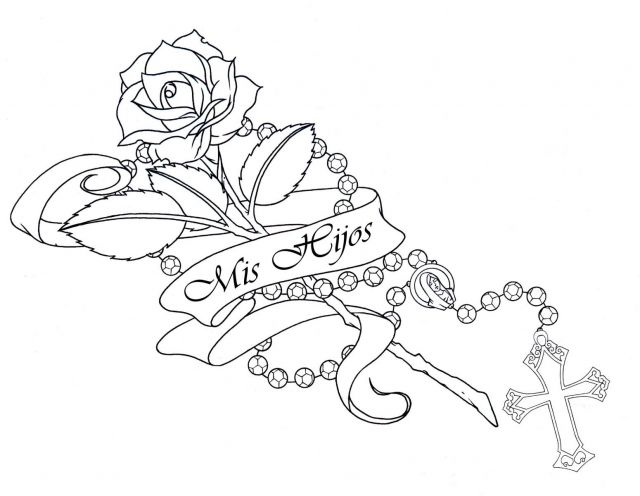 Drawn rose rose banner Drawing Tattoo Drawings Lineart Trails