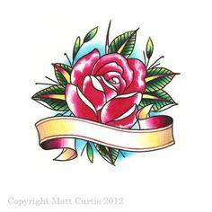 Drawn rose rose banner Sketch tribalbodyart by Curtis Traditional