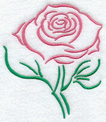 Drawn rose rose bloom Machine Embroidery Embroidery Designs Library!