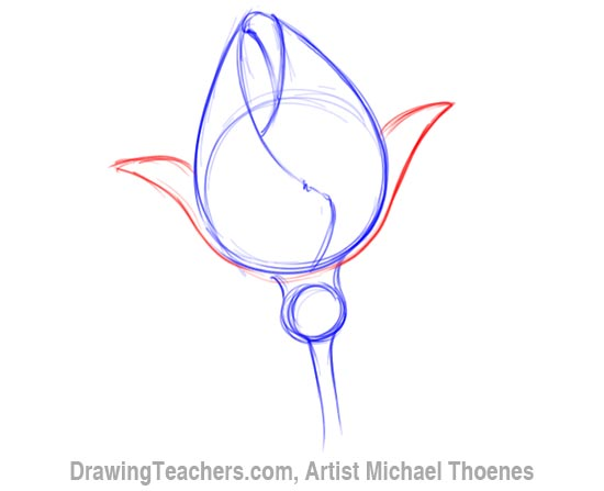 Drawn rose rose bud A How How to Draw