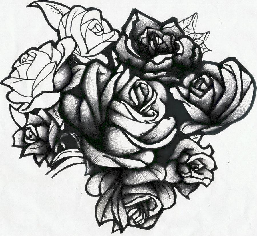 Drawn rose rose cluster Roses Evilrj by Evilrj DeviantArt