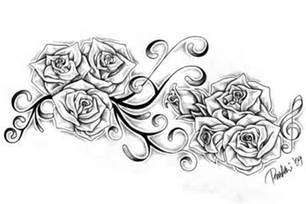 Drawn rose rose cluster Lady Altered lady Identity gaga