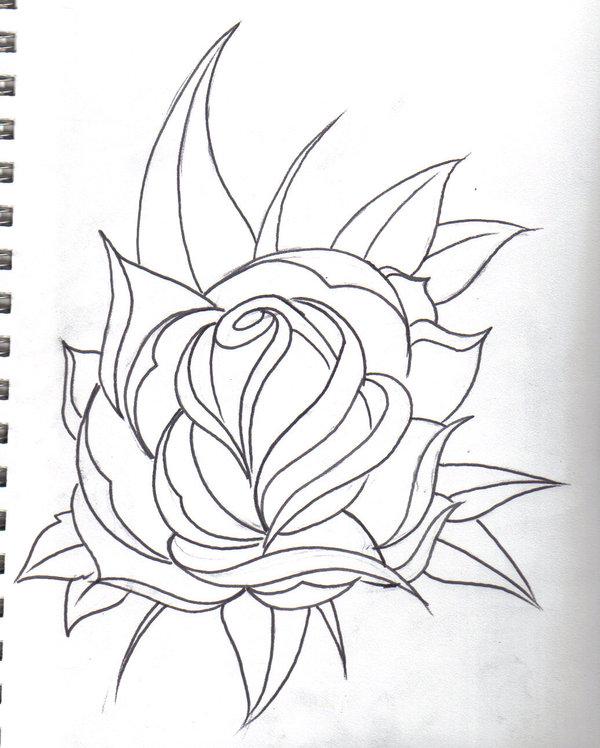 Drawn rose rose line Clipart drawing rose Art Clip
