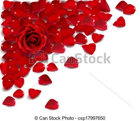 Drawn rose rose petal Clipart csp17997650 red of petals