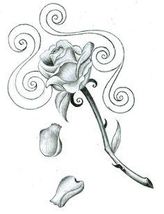 Drawn rose rose petal Drawings falling the in all