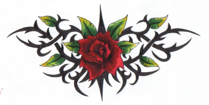 Drawn rose rose thorn The Thorns on ReaperXXIV Amongst