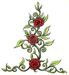 Drawn rose rose thorn  rose Thorns Rose Thorns