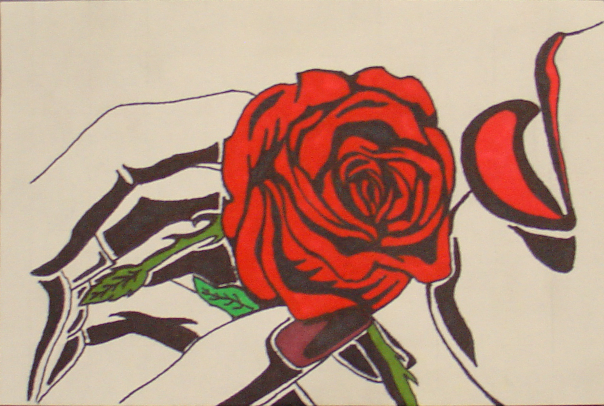 Drawn rose sharpie Sharpie Guide Rose Rose Jpg