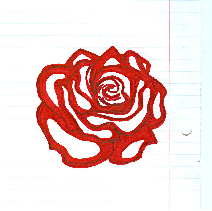Drawn rose sharpie By Rose Arigalaxy Sharpie by