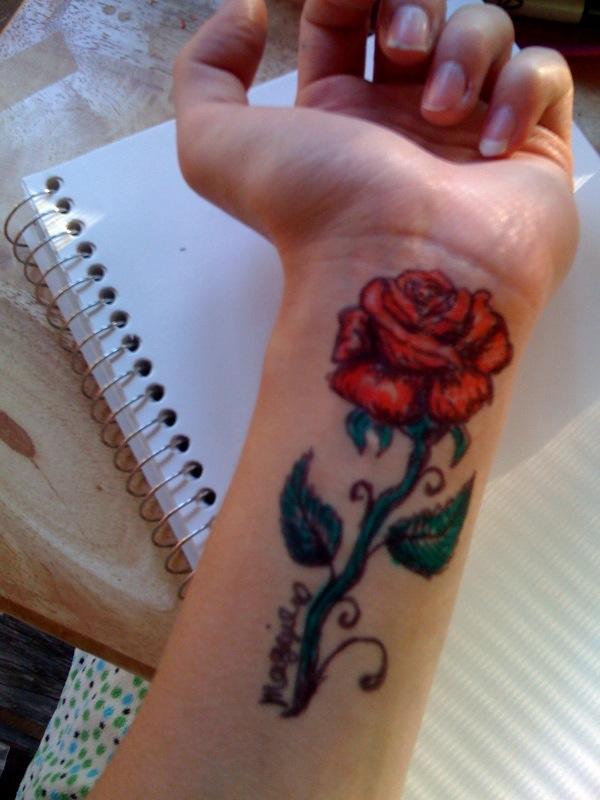 Drawn rose sharpie Aztec Rose sharpie jojo hiraistrange