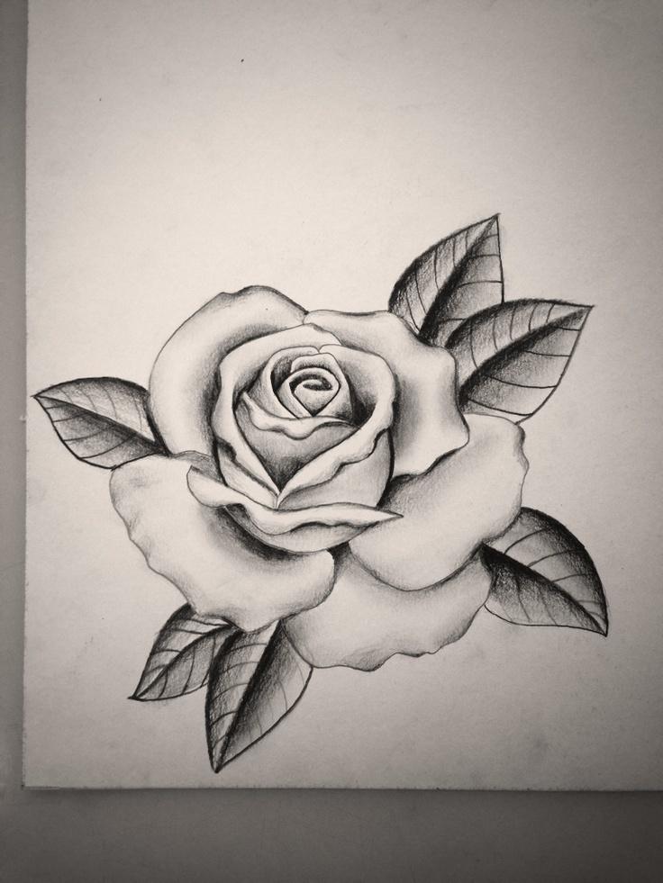 Drawn tattoo rose #4