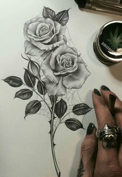 Drawn rose sketching Pinterest edge 25+ Rose ideas