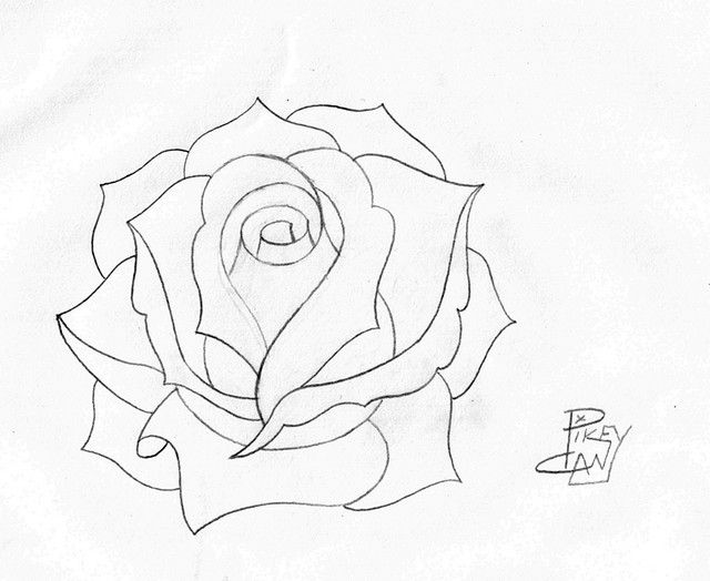 Drawn red rose complex The Drawings 25+ Pinterest Rose