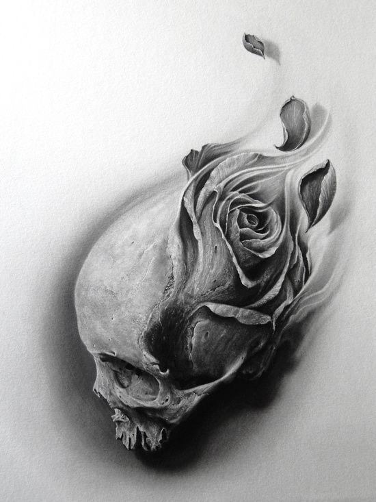 Drawn rose skull inside Pinterest Original skull 25+ and