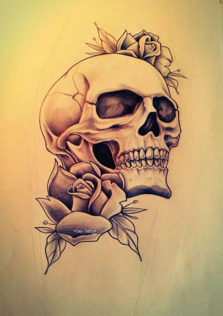 Drawn rose skull inside Best Pinterest Skull roses 25+