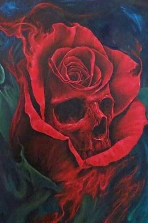 Drawn rose skull inside Rose Rose … Pinteres… ;)