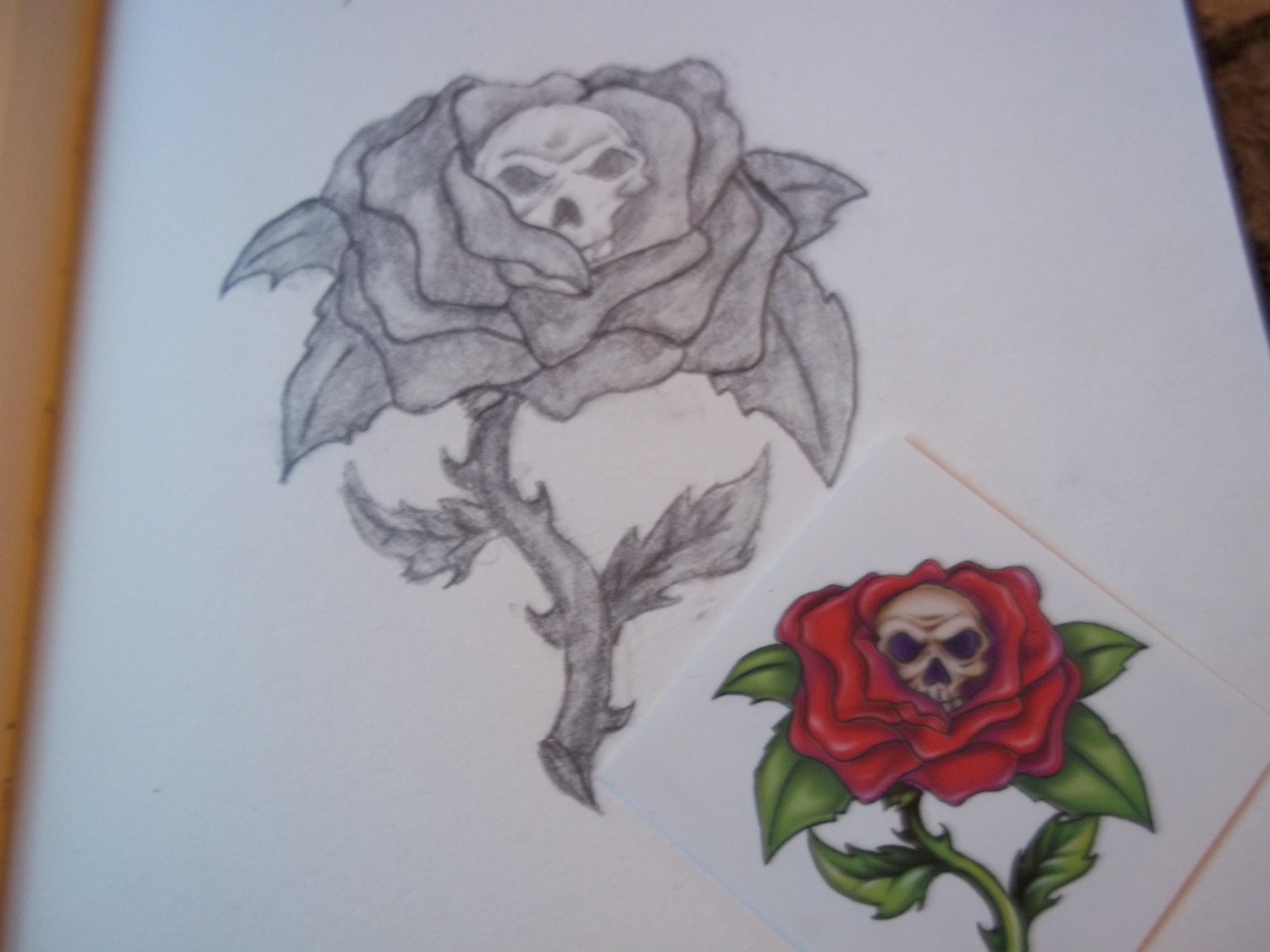 Drawn rose skull inside 21 Skull Inside 2011 A