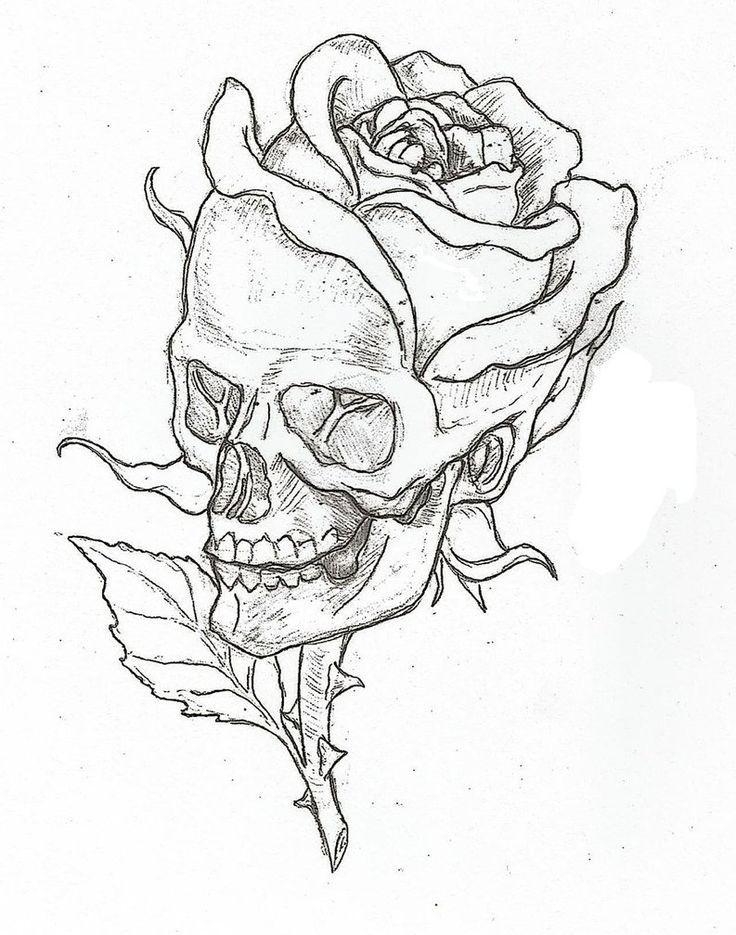 Drawn rose skull inside On 1000+ ideas Pinterest Best